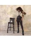 Женский кожаный комбинезон