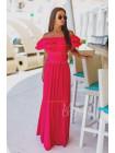 Красивое длинное платье в пол с открытыми плечами