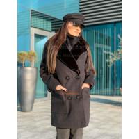 Жіноче розкішне пальто з хутром