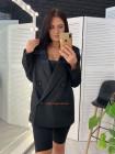 Двубортный женский пиджак на подкладке