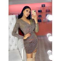 Вечернее блестящее платье с люрексом