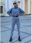 Женский стильный костюм в крупную клетку
