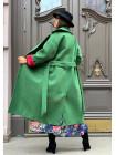 Кашемірове модне пальто на запах