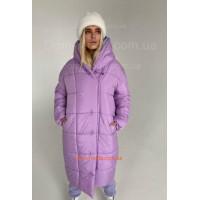 Зимнее стеганное женское пальто с капюшоном
