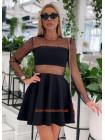 """Коктельне жіноче плаття з довгим рукавом """"BABYDOLL"""""""