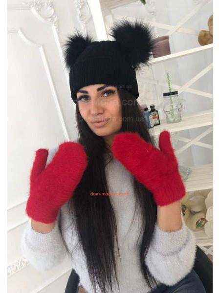 Теплі рукавиці з ангори