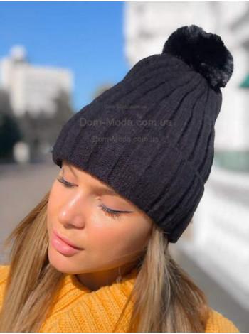 Молодіжна шапка з помпоном
