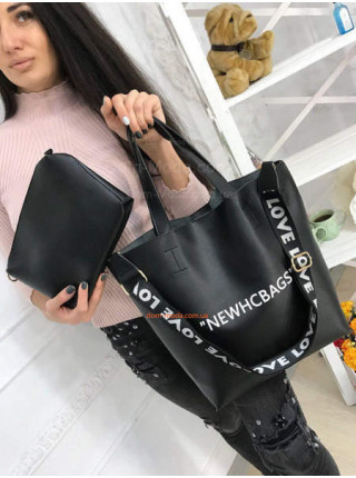 Жіноча сумка шопер з косметичкою