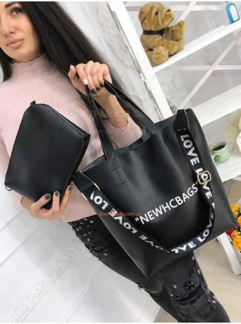 Женская сумка шопер с косметичкой