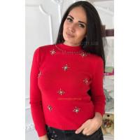 Трикотажний светр з камінням