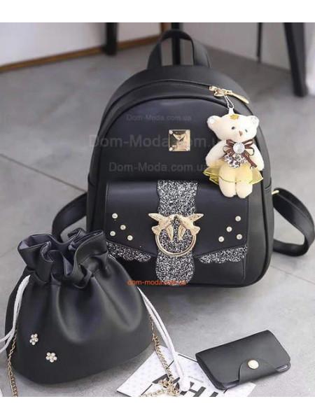 Рюкзак женский городской с клатчем