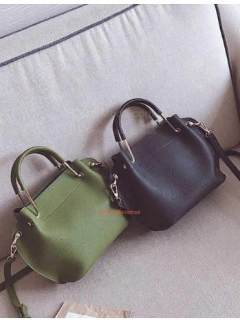 Женская сумка с ручками кольцами