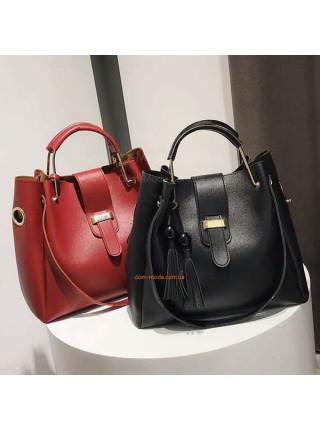 Модна жіноча сумка через плече + клатч
