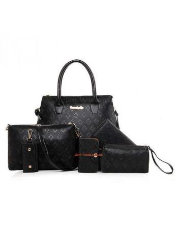 Женская сумка 6в1 клатч и кошелек