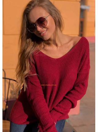 Вязаный свитер с открытой спиной
