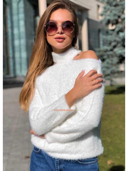 Жіночий светр з відкритими плечима