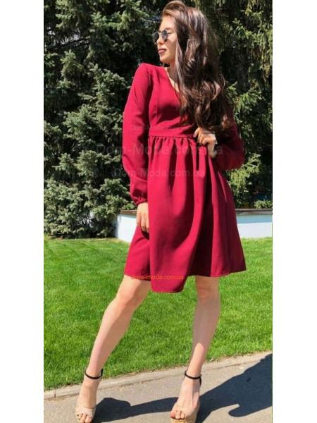 Модное платье женское с рукавом на резинке