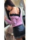 Женская красивая кофта с открытой спиной