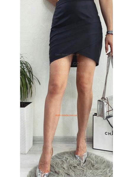 Жіноча шкіряна міні спідниця