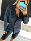 Стильный женский пиджак в полоску