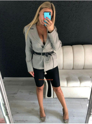 Модний жіночий піджак в гусячу лапку