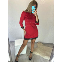 Короткое трикотажное женское платье
