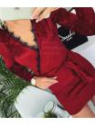 Коротке плаття оксамитове із глибоким декольте