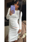 Облягаюче коротке плаття із рукавом