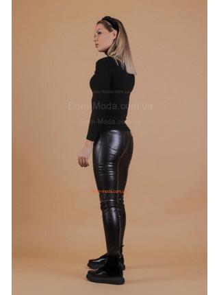 Женские кожаные лосиный на флисе