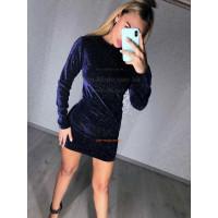 Стильное мини платье с длинным рукавом