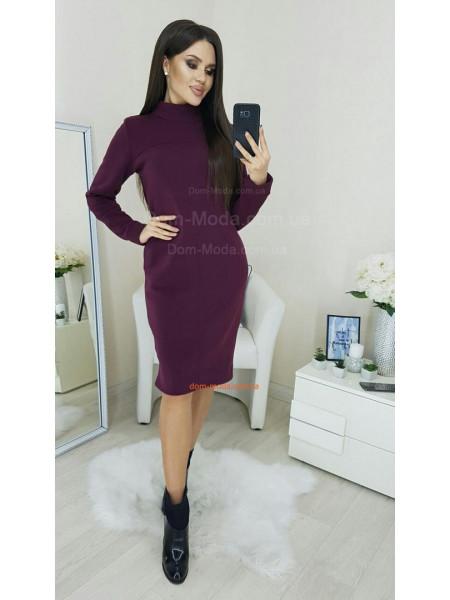 Жіноче тепле плаття на флісі із кишенями
