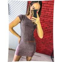 Коротка облягаюча сукня із коротким рукавом