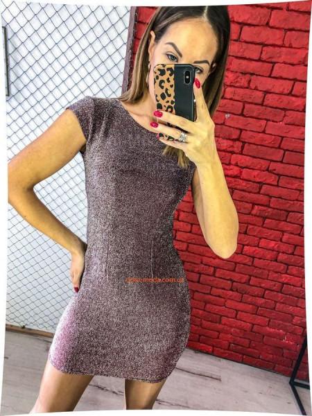 Короткое облегающее платье с коротким рукавом