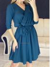 Стильное платье на запах с рукавом три четверти