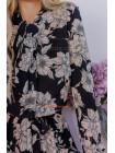 Модное платье миди в цветочный принт