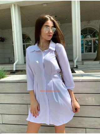 Короткое летнее платье рубашка