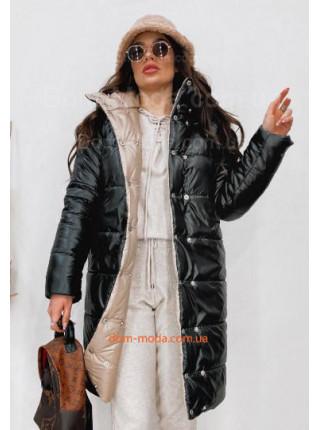 Женская двухсторонняя куртка на кнопках
