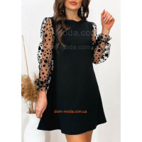 Жіноча міні сукня зі вставками з сітки