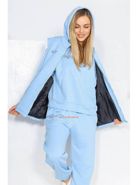 Жіночий спортивний костюм з жилеткою