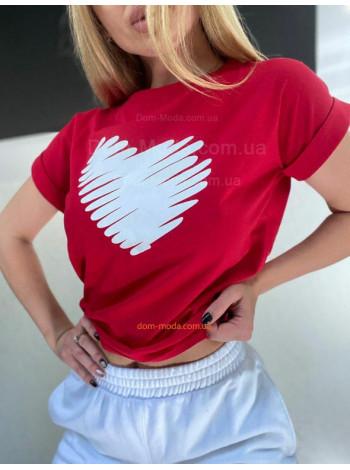 Футболка з принтом серце