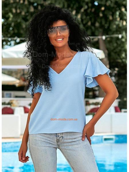 Літня блузка з рукавом воланом