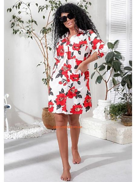 Сорочка в квіточку жіноча