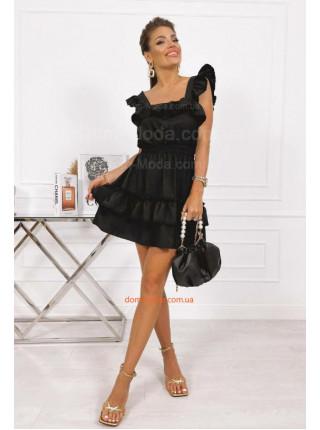 Літнє плаття з рюшами на рукавах