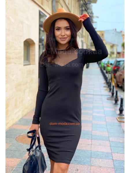 Платье с молнией на спине
