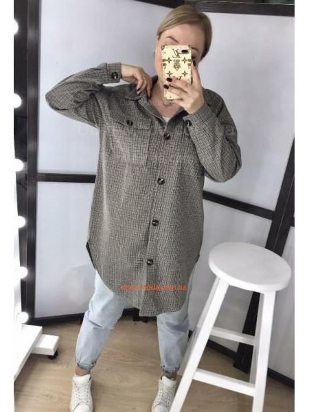 Кашемірова сорочка в дрібну клітинку