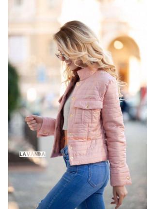 Коротка модна куртка на синтепоні
