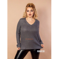 Модный женский свитер для полных девушек