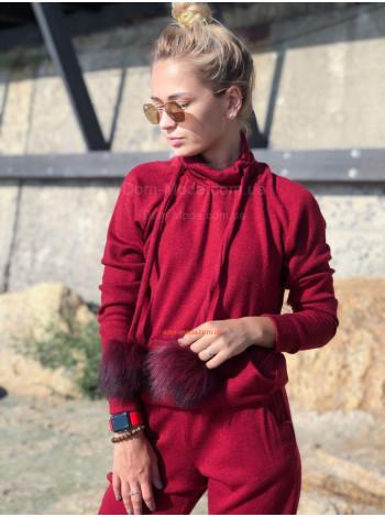 Женский спортивный костюм с помпонами