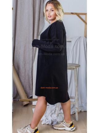 Тепле чорне плаття великого розміру