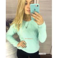 Стильный женский свитер травка